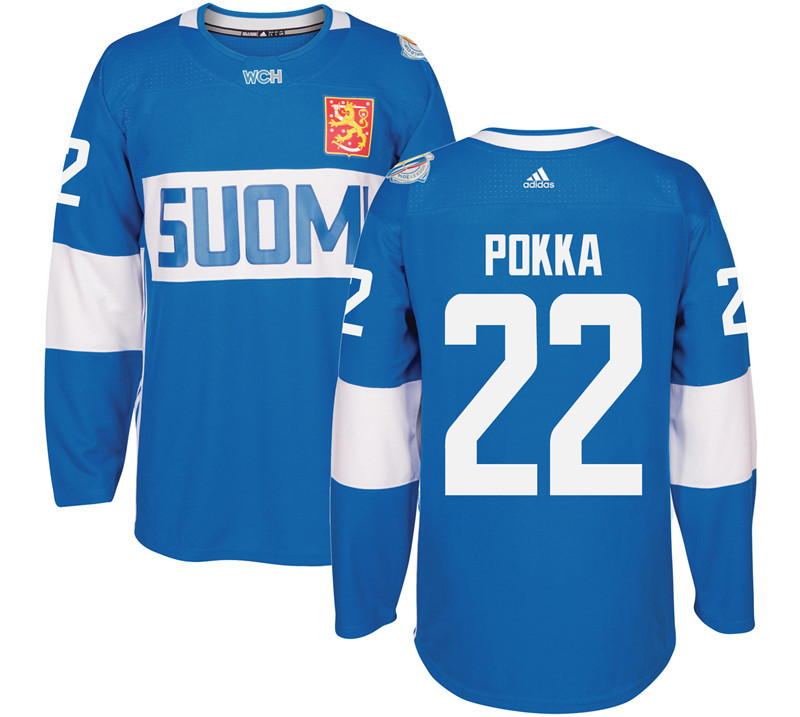 Finland Hockey 22 Ville Pokka White World Cup of Hockey 2016 adidas Mens Stitched Jersey