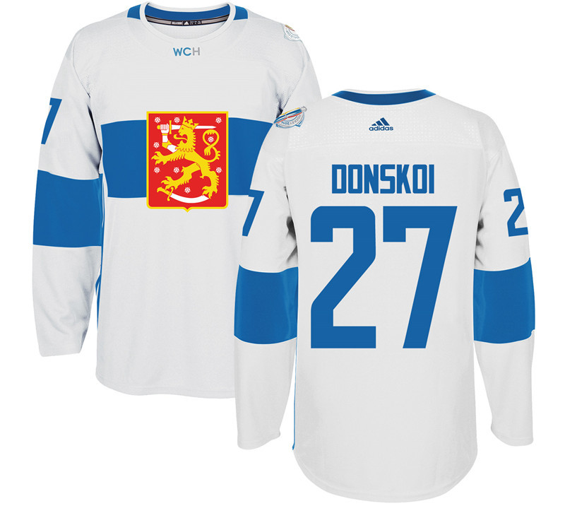 Finland Hockey 27 Joonas Donskoi White World Cup of Hockey 2016 adidas Mens Stitched Jersey