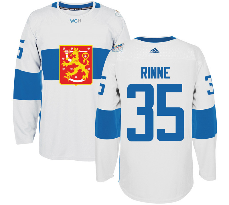 Finland Hockey 35 Pekka Rinne White World Cup of Hockey 2016 adidas Mens Stitched Jersey