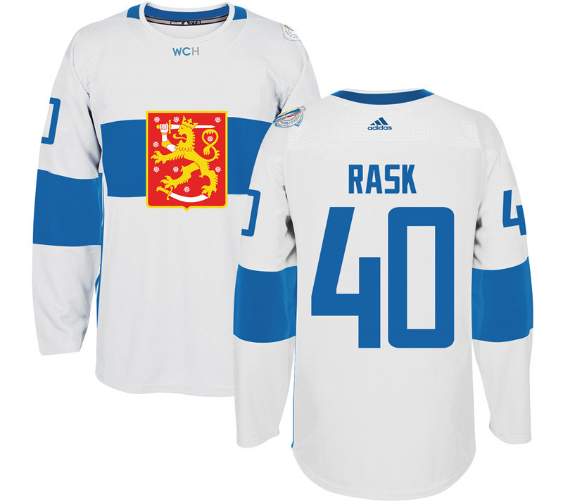 Finland Hockey 40 Tuuka Rask White World Cup of Hockey 2016 adidas Mens Stitched Jersey