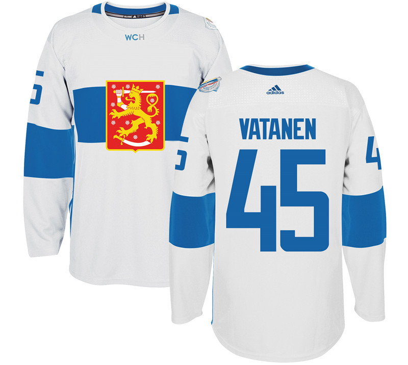 Finland Hockey 45 Sami Vatanen White World Cup of Hockey 2016 adidas Mens Stitched Jersey