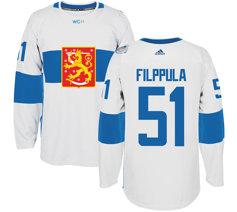 Finland Hockey 51 Valtteri Filppula White World Cup of Hockey 2016 adidas Mens Stitched Jersey