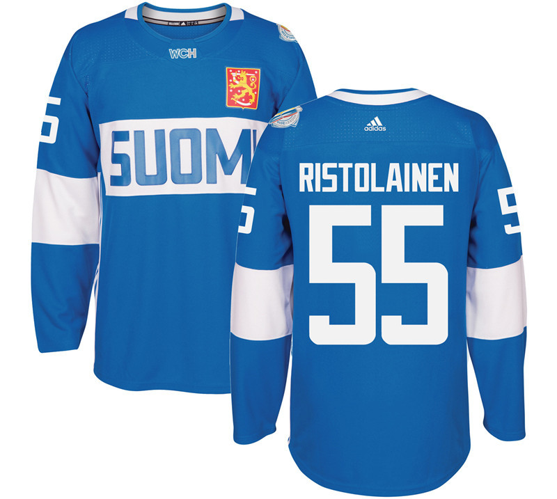 Finland Hockey 55 Rasmus Ristolainen Mens Blue World Cup of Hockey 2016 adidas Stitched Jersey