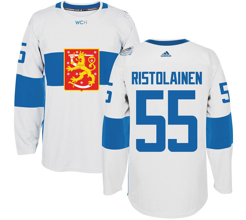 Finland Hockey 55 Rasmus Ristolainen White World Cup of Hockey 2016 adidas Mens Stitched Jersey