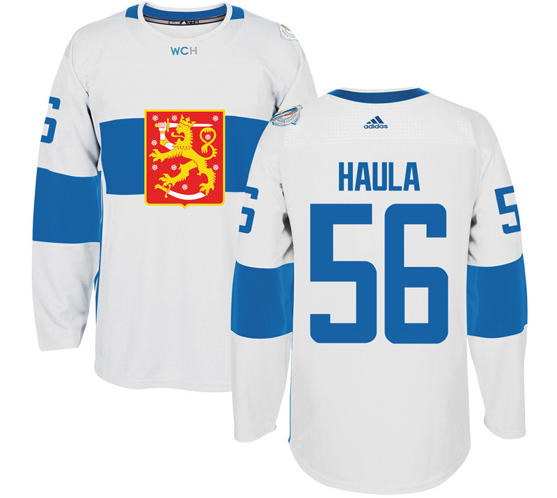 Finland Hockey 56 Erik Haula White World Cup of Hockey 2016 adidas Mens Stitched Jersey