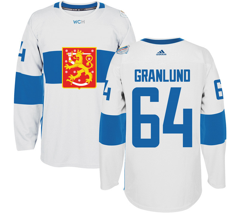 Finland Hockey 64 Mikael Granlund White World Cup of Hockey 2016 adidas Mens Stitched Jersey