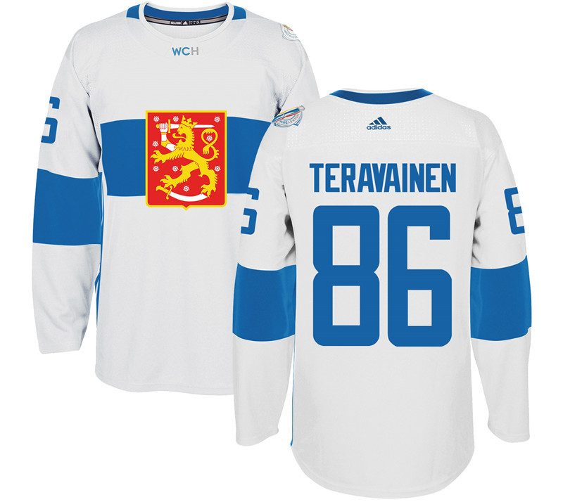 Finland Hockey 86 Teuvo Teravainen White World Cup of Hockey 2016 adidas Mens Stitched Jersey