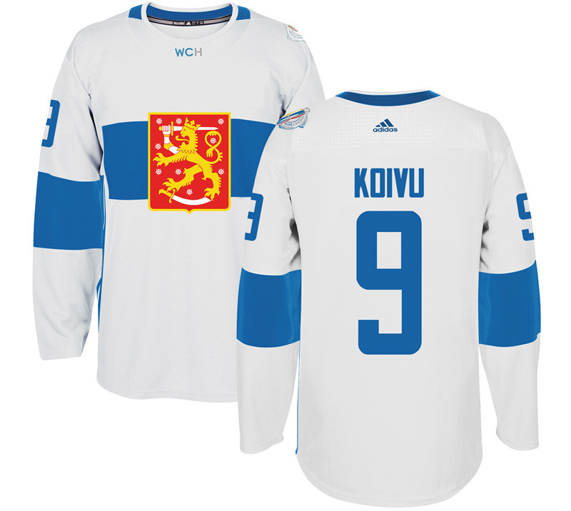 Finland Hockey 9 Mikko Koivu White World Cup of Hockey 2016 adidas Mens Stitched Jersey