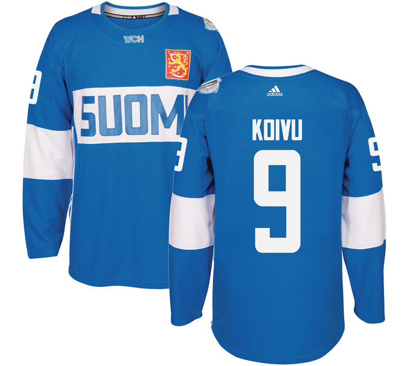 Finland Hockey 9 Mikko Mens Blue World Cup of Hockey 2016 adidas Stitched Koivu Jersey