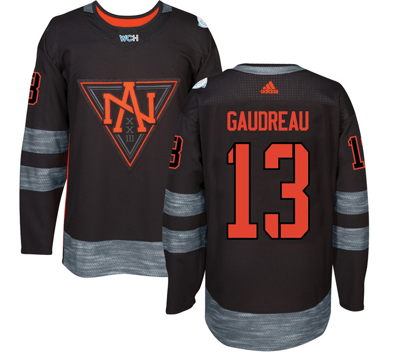 Men North America Hockey 13 Gauderau adidas Black World Cup of Hockey 2016 Jersey