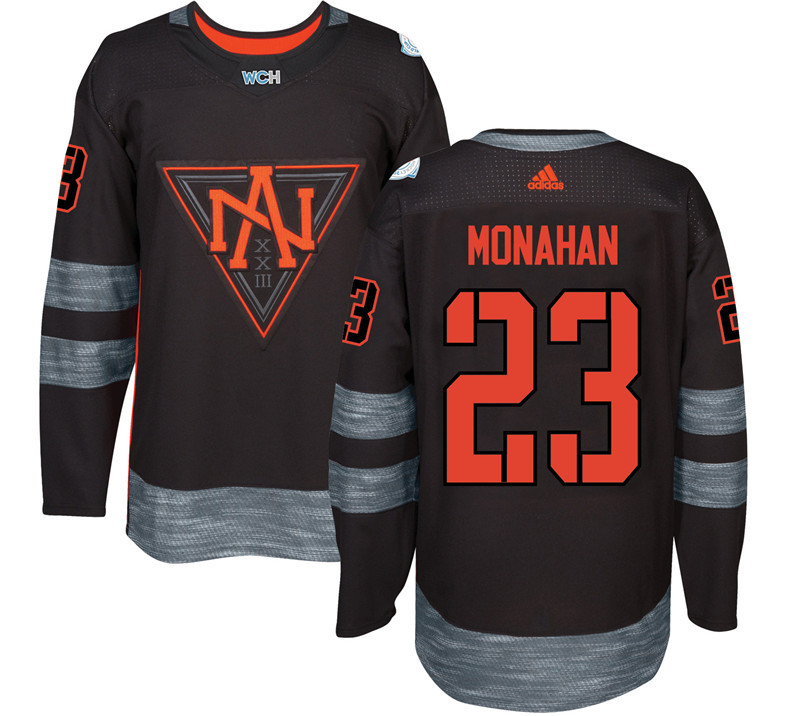 Men North America Hockey 23 Monahan adidas Black World Cup of Hockey 2016 Jersey