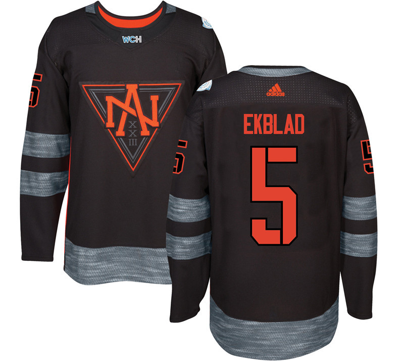 Men North America Hockey 5 Ekblad adidas Black World Cup of Hockey 2016 Jersey