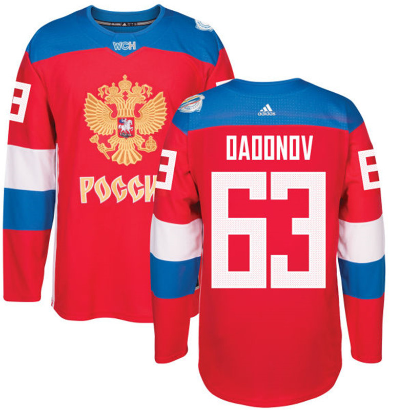Men Russia Hockey 63 Daddnov adidas red World Cup of Hockey 2016 Jersey