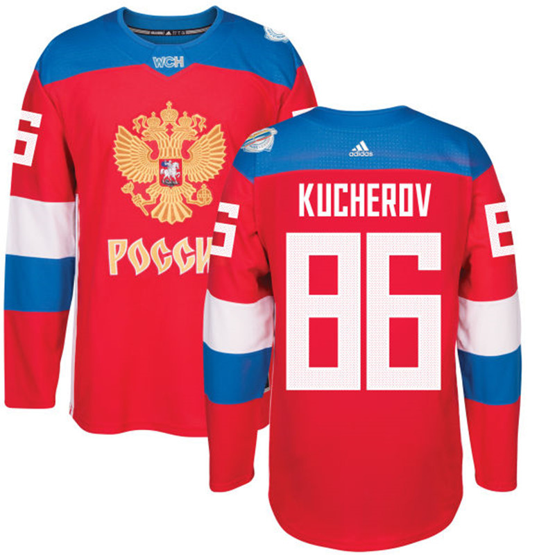 Men Russia Hockey 86 Kucherov adidas red World Cup of Hockey 2016 Jersey