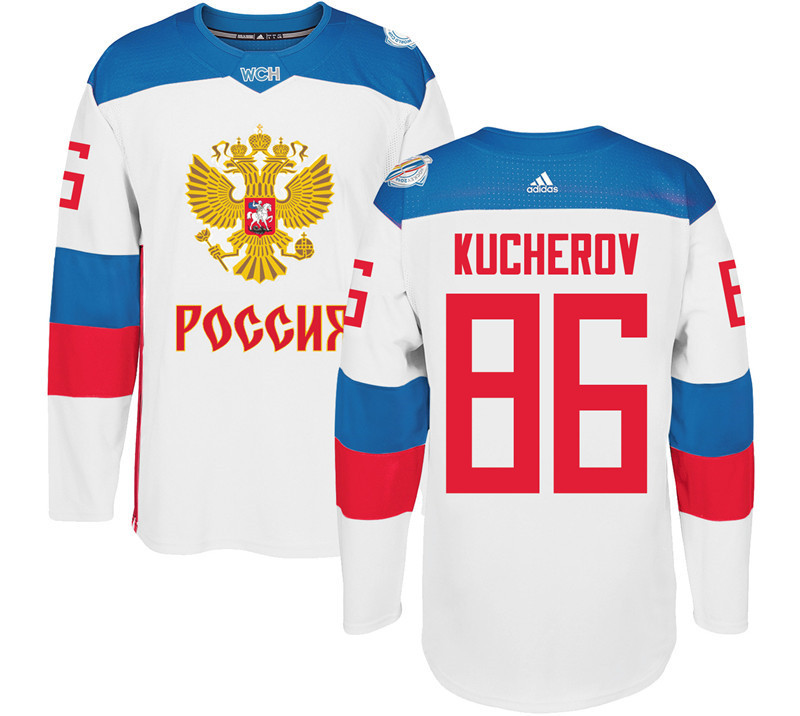 Men Russia Hockey 86 Kucherov adidas white World Cup of Hockey 2016 Jersey