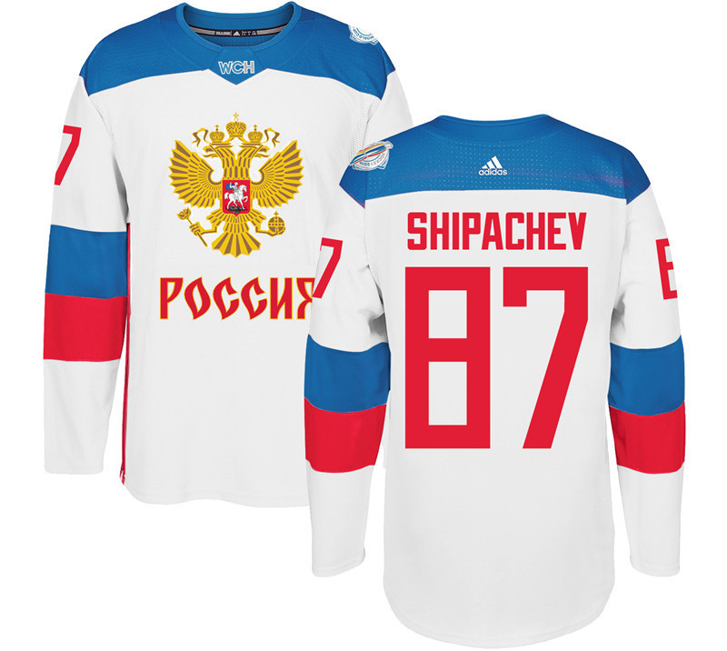 Men Russia Hockey 87 Shipaghev adidas white World Cup of Hockey 2016 Jersey