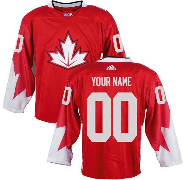 Mens Custom Team Canada 2016 World Cup of Hockey Olympics Game Red Jerseys