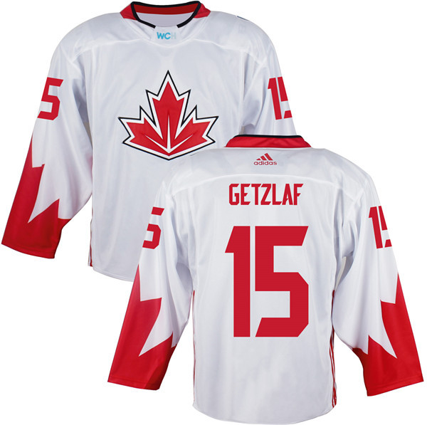 Mens Team Canada 15 Ryan Getzlaf 2016 World Cup of Hockey Olympics Game White Jerseys