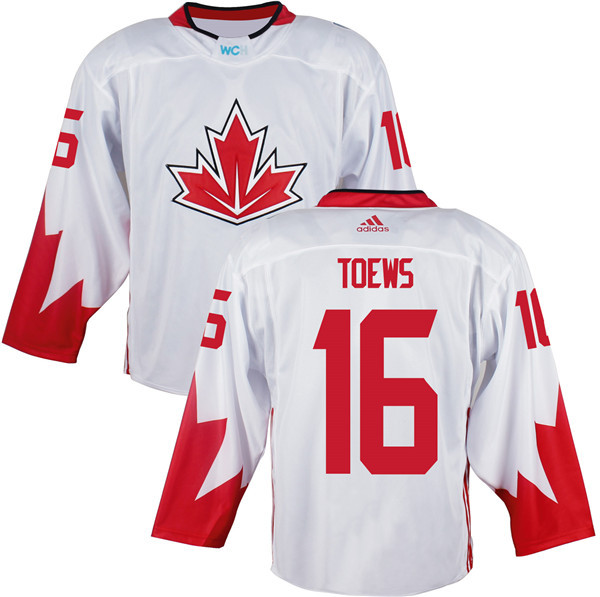 Mens Team Canada 16 Jonathan Toews 2016 World Cup of Hockey Olympics Game White Jerseys