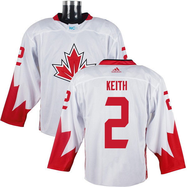 Mens Team Canada 2 Duncan Keith 2016 World Cup of Hockey Olympics Game White Jerseys