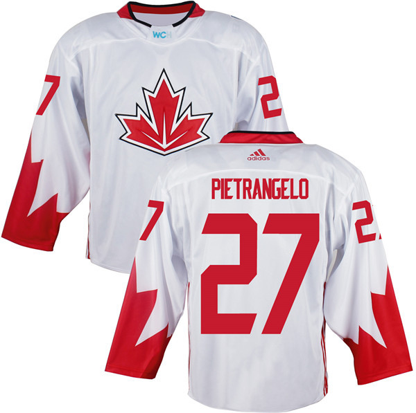Mens Team Canada 27 Alex Pietrangelo 2016 World Cup of Hockey Olympics Game White Jerseys