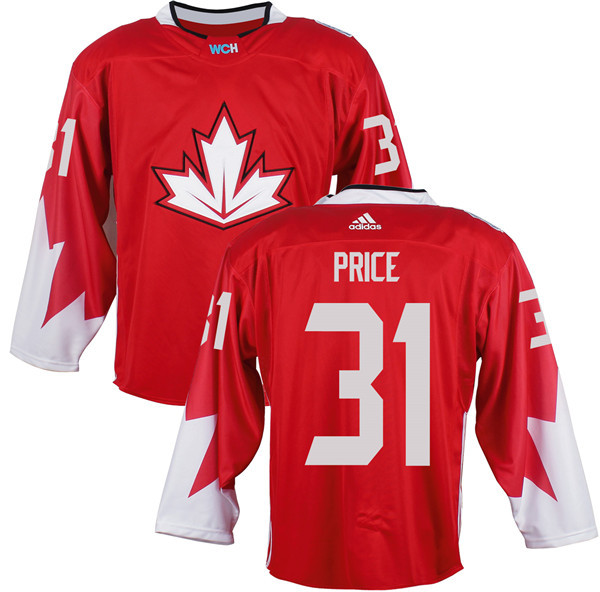 Mens Team Canada 31 Carey Price 2016 World Cup of Hockey Olympics Game Red Jerseys