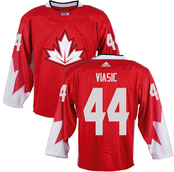 Mens Team Canada 44 Marc-Edouard Vlasic 2016 World Cup of Hockey Olympics Game Red Jerseys