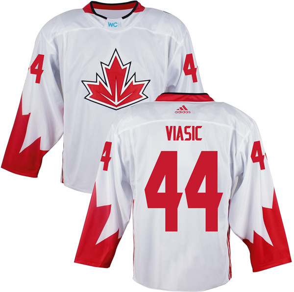 Mens Team Canada 44 Marc-Edouard Vlasic 2016 World Cup of Hockey Olympics Game White Jerseys