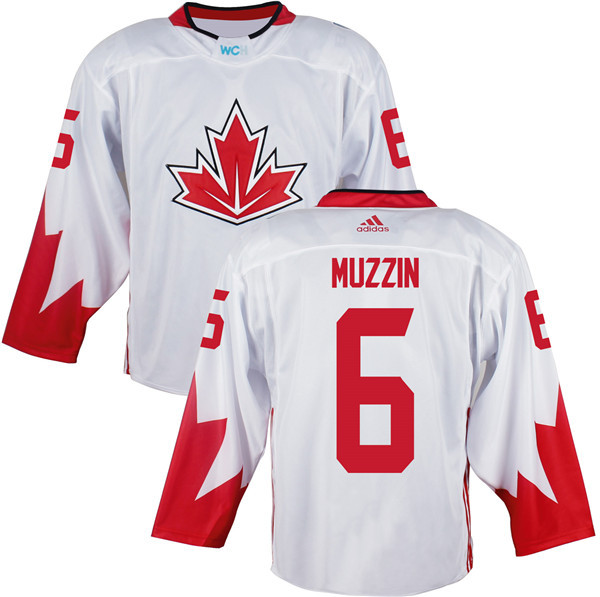 Mens Team Canada 6 Jake Muzzin 2016 World Cup of Hockey Olympics Game White Jerseys