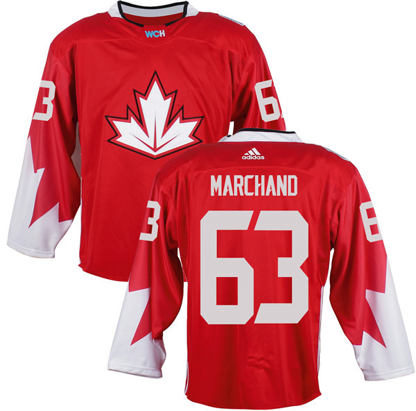 Mens Team Canada 63 Brad Marchand 2016 World Cup of Hockey Olympics Game Red Jerseys