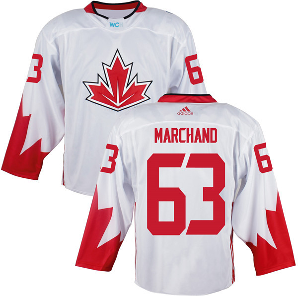 Mens Team Canada 63 Brad Marchand 2016 World Cup of Hockey Olympics Game White Jerseys