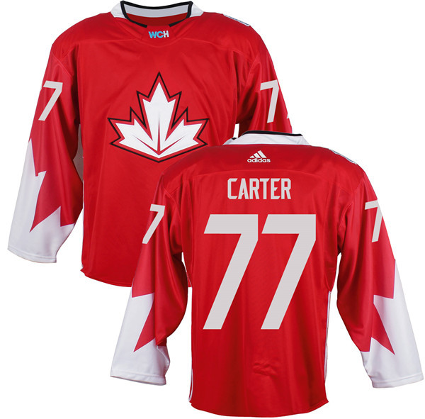 Mens Team Canada 77 Jeff Carter 2016 World Cup of Hockey Olympics Game Red Jerseys