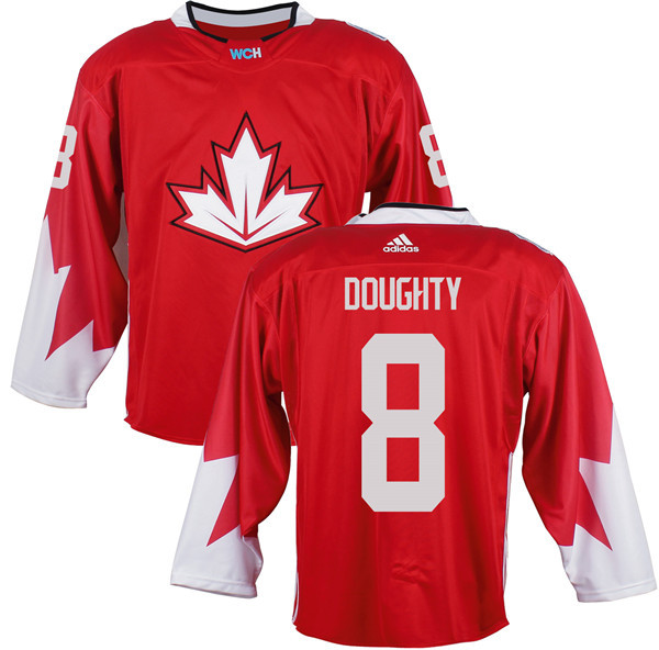 Mens Team Canada 8 Drew Doughty 2016 World Cup of Hockey Olympics Game Red Jerseys