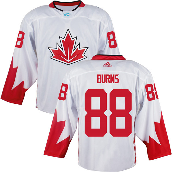Mens Team Canada 88 Brent Burns 2016 World Cup of Hockey Olympics Game White Jerseys