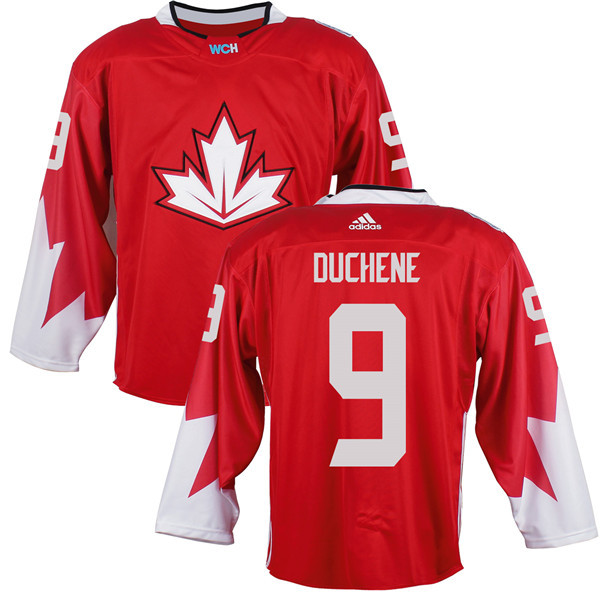 Mens Team Canada 9 Matt Duchene 2016 World Cup of Hockey Olympics Game Red Jerseys