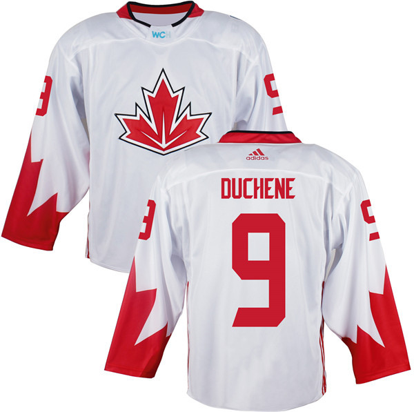 Mens Team Canada 9 Matt Duchene 2016 World Cup of Hockey Olympics Game White Jerseys