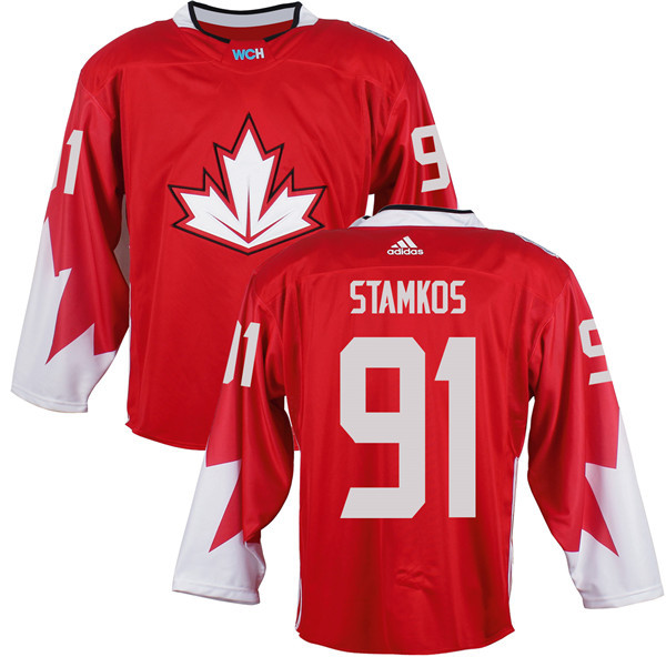 Mens Team Canada 91 Steven Stamkos 2016 World Cup of Hockey Olympics Game Red Jerseys