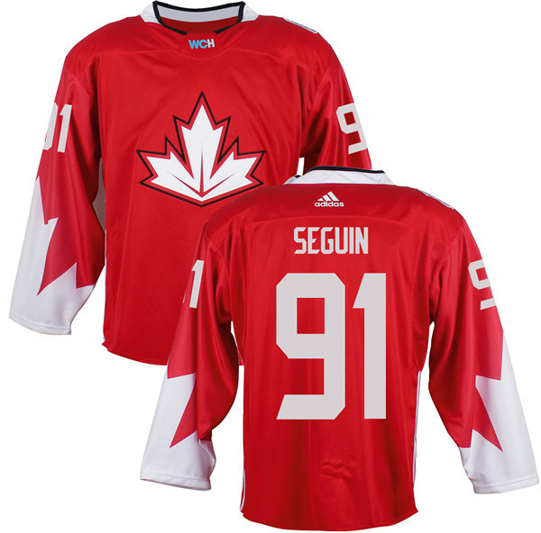 Mens Team Canada 91 Tyler Seguin 2016 World Cup of Hockey Olympics Game Red Jerseys