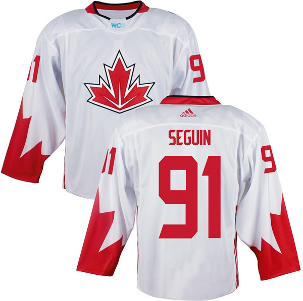 Mens Team Canada 91 Tyler Seguin 2016 World Cup of Hockey Olympics Game White Jerseys