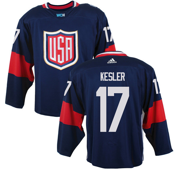Mens Team USA 17 Ryan Kesler 2016 World Cup of Hockey Olympics Game Navy Blue Jerseys