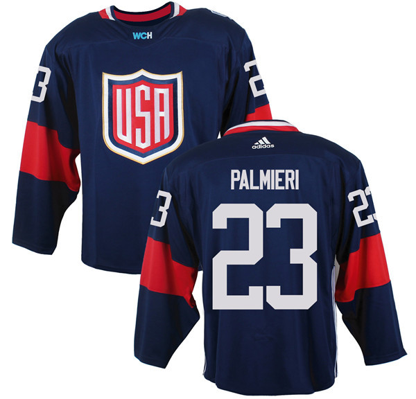 Mens Team USA 23 Kyle Palmieri 2016 World Cup of Hockey Olympics Game Navy Blue Jerseys