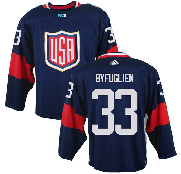 Mens Team USA 33 Dustin Byfuglien 2016 World Cup of Hockey Olympics Game Navy Blue Jerseys