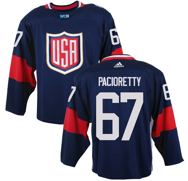 Mens Team USA 67 Max Pacioretty 2016 World Cup of Hockey Olympics Game Navy Blue Jerseys