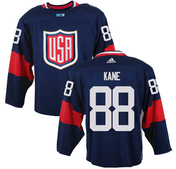 Mens Team USA 88 Patrick Kane 2016 World Cup of Hockey Olympics Game Navy Blue Jerseys