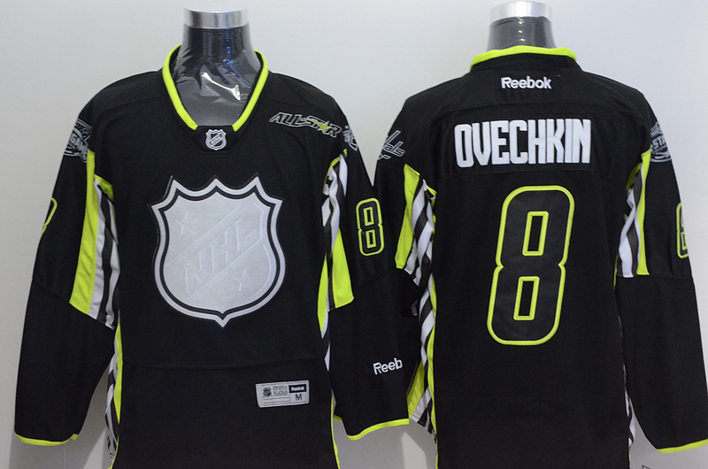 NHL 2015 All Star 8 Ovechkin Black Premier Jersey