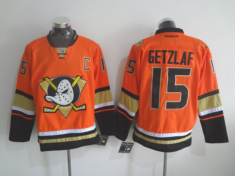 NHL Anaheim Ducks 15 Ryan Getzlaf Orange 2015 Jerseys