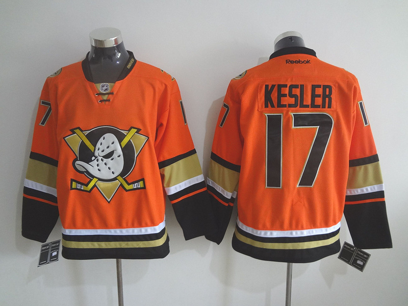 NHL Anaheim Ducks 17 Ryan Kesler Orange 2015 Jerseys