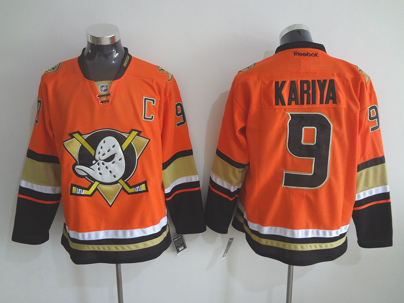 NHL Anaheim Ducks 9 Paul Kariya Orange 2015 Jerseys