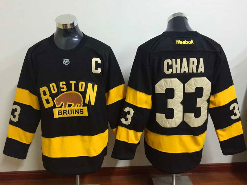 NHL Boston Bruins 33 Zdeno Chara Black 2015 Winter Classic Premier Jersey.