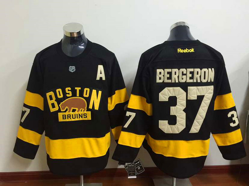 NHL Boston Bruins 37 Patrice Bergeron Black 2015 Winter Classic Premier  Jersey f48a33c02
